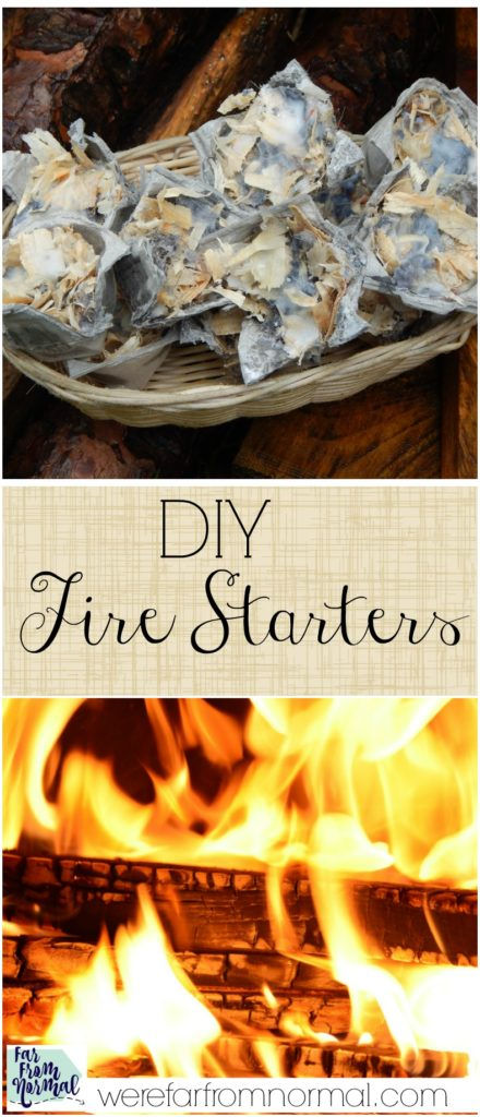 Have trouble getting a fire started Whether you're making a campfire or one in your fire place these little fire starters make it so easy!!