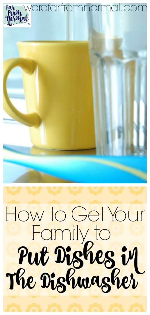 Are you tired of dishes piling up in the sink when you have a dishwasher? This is a simple way to get your family to put their dishes in the dishwasher without having to ask! FREE PRINTABLE!!