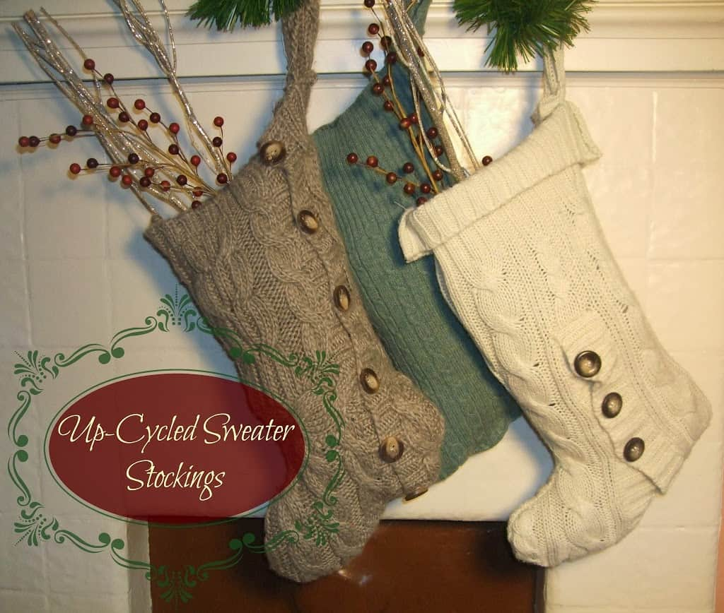 Up-Cycled Sweater Stockings- 12 Days of Handmade Christmas