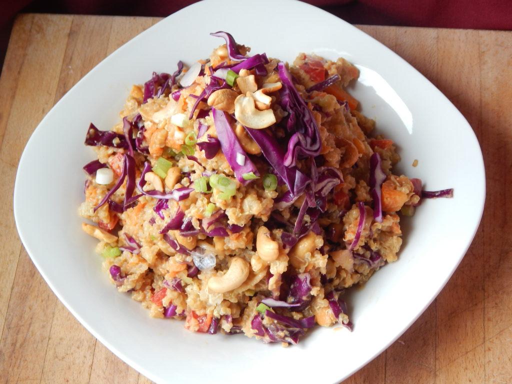 quinoa cashew and veggie salad