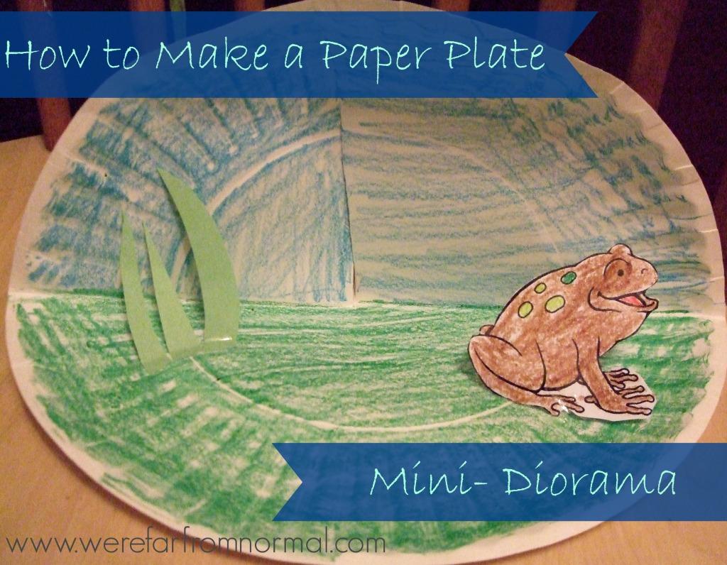paper plate diorama