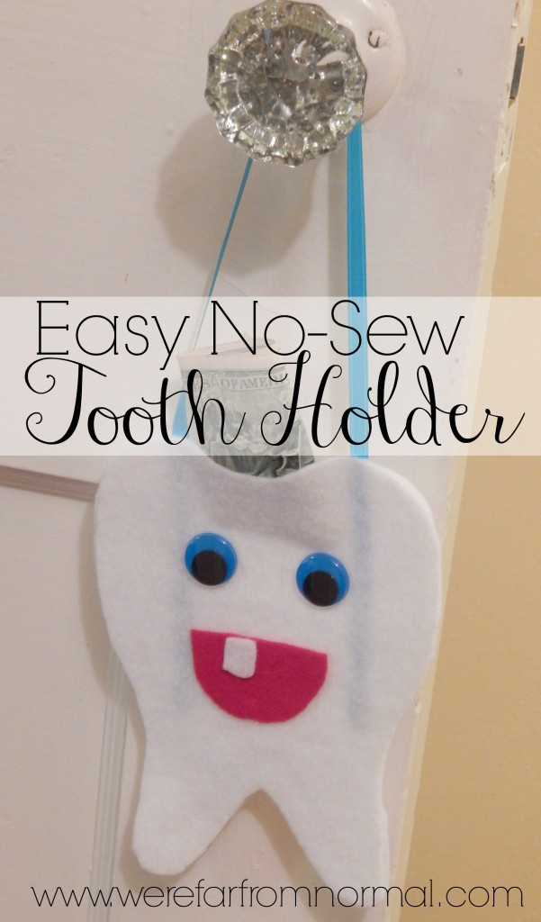 Get ready for the Tooth Fairy with this easy to make no-sew Tooth Holder