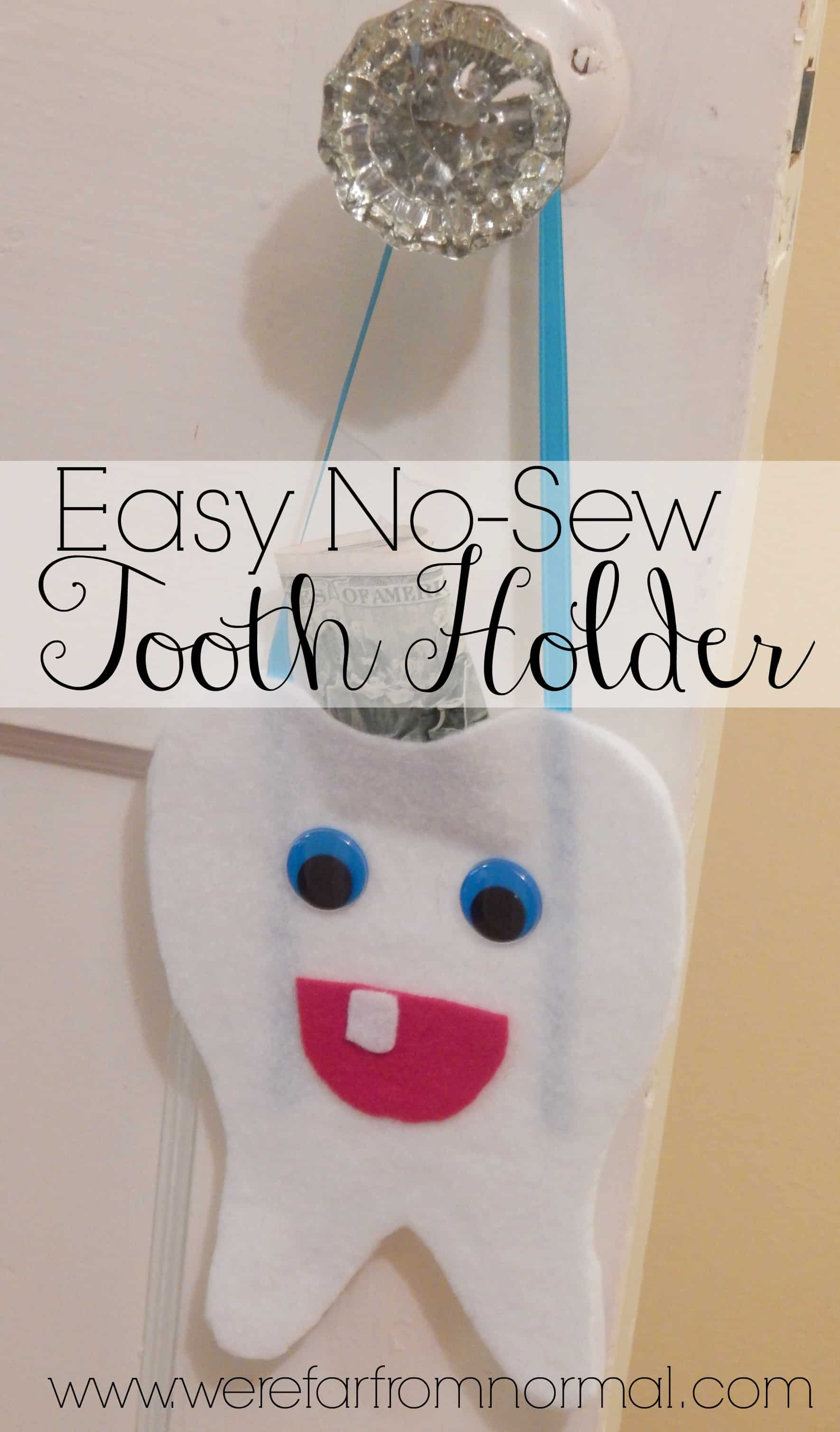 Easy No-Sew Tooth Holder {For the Tooth Fairy}