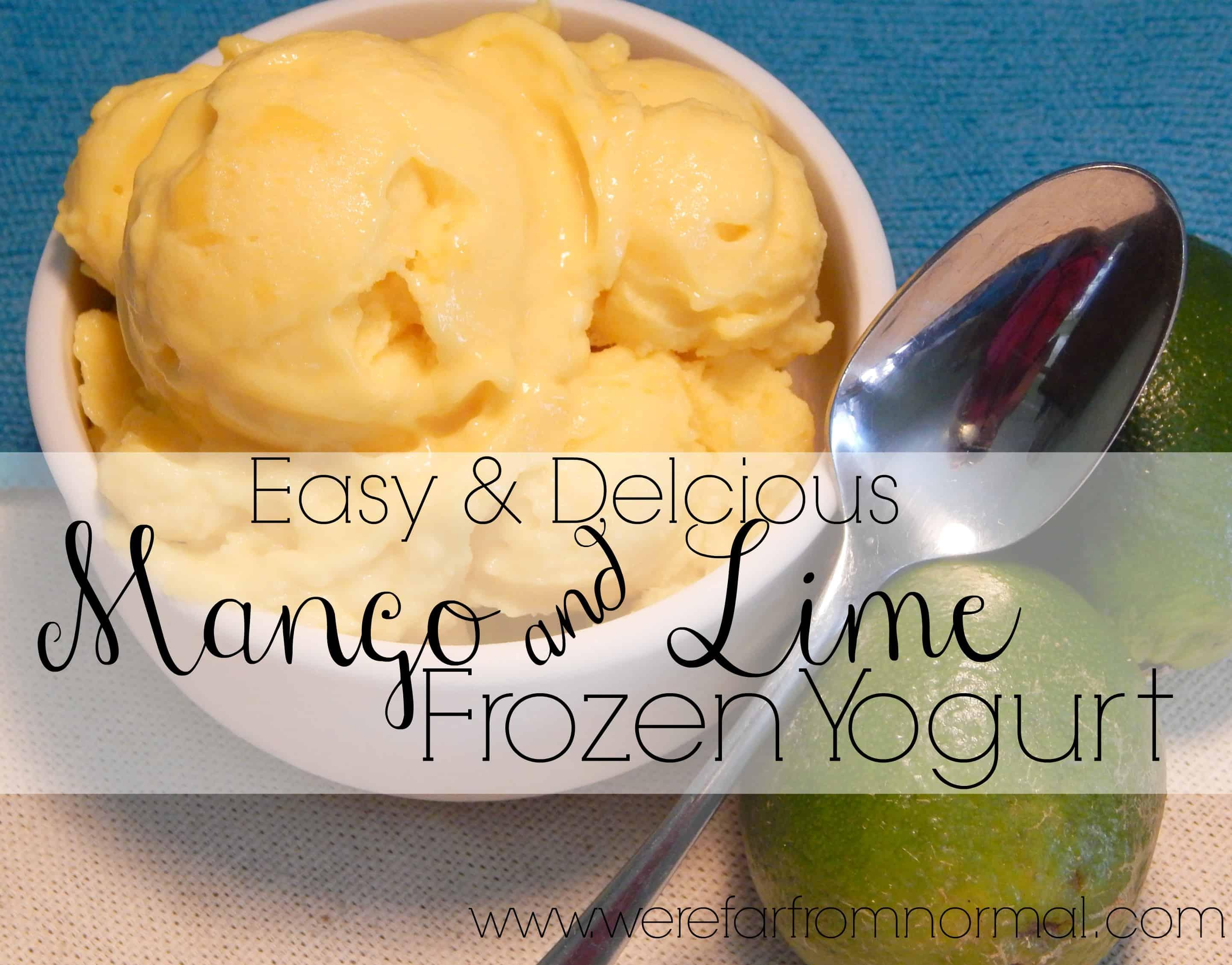 Easy & Delicious Mango Lime Frozen Yogurt