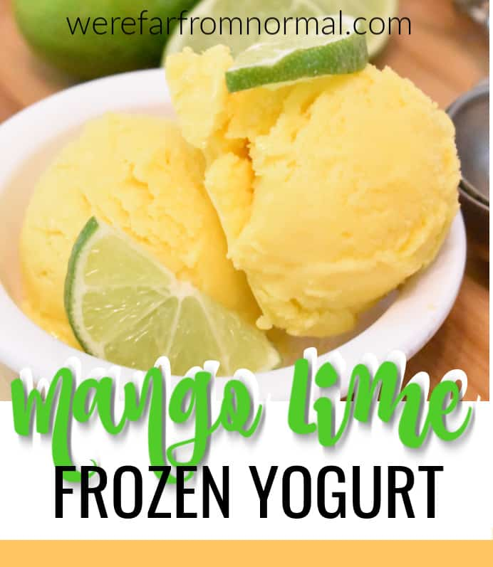 mango lime frozen yogurt