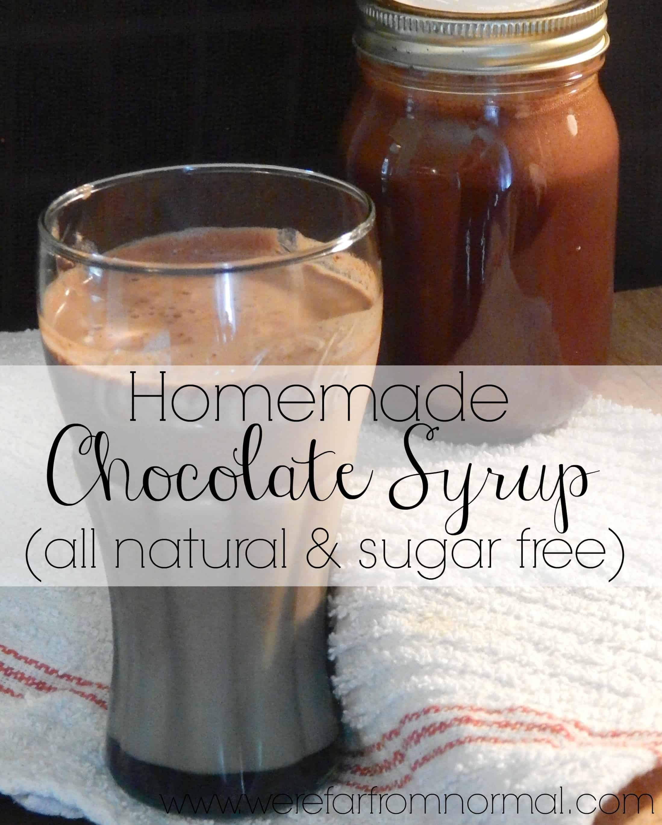 Homemade Chocolate Syrup (Sugar free and All Natural!)