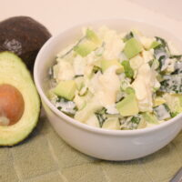 Simple Cucumber Avocado Salad