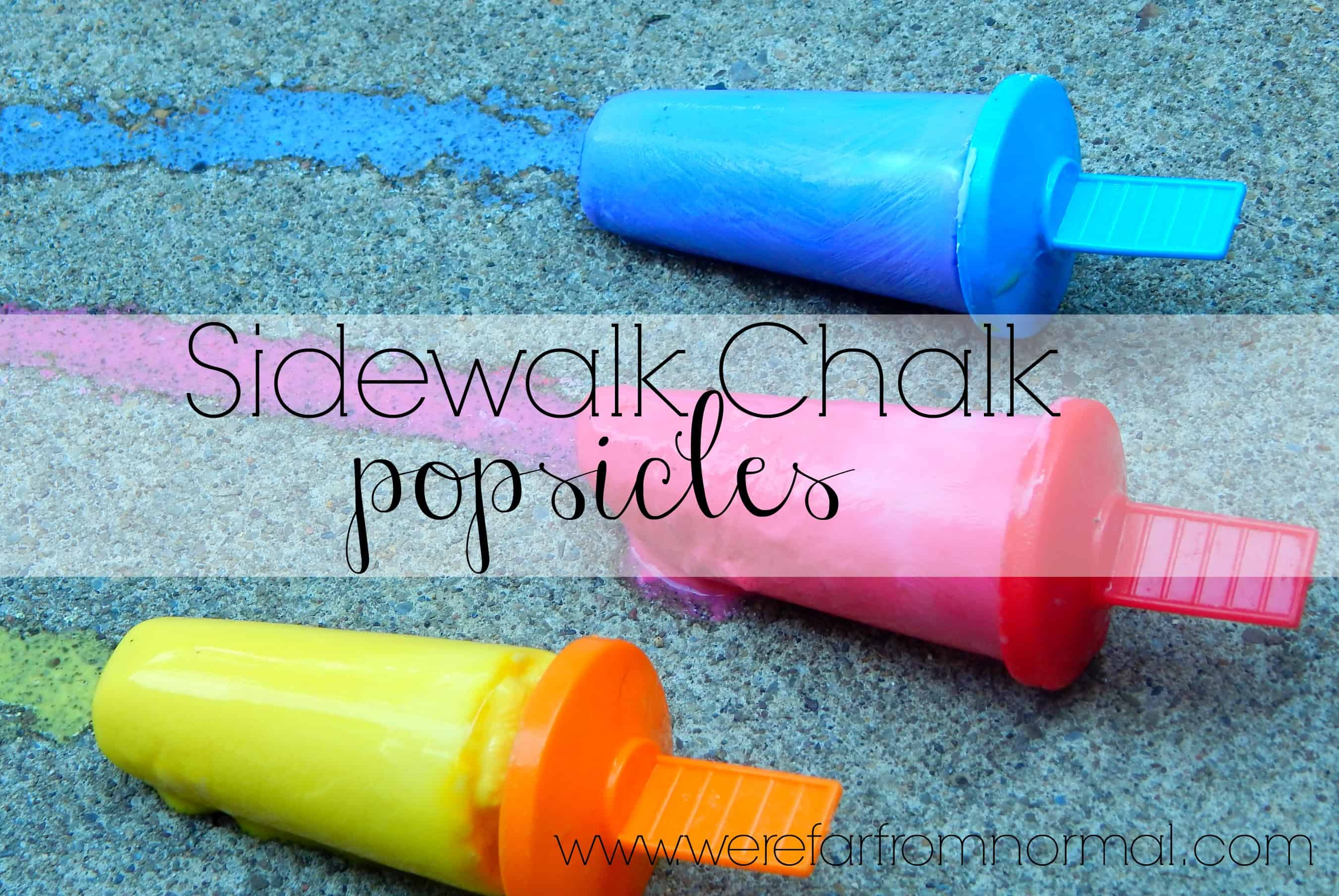 Popsicle Sidewalk Chalk