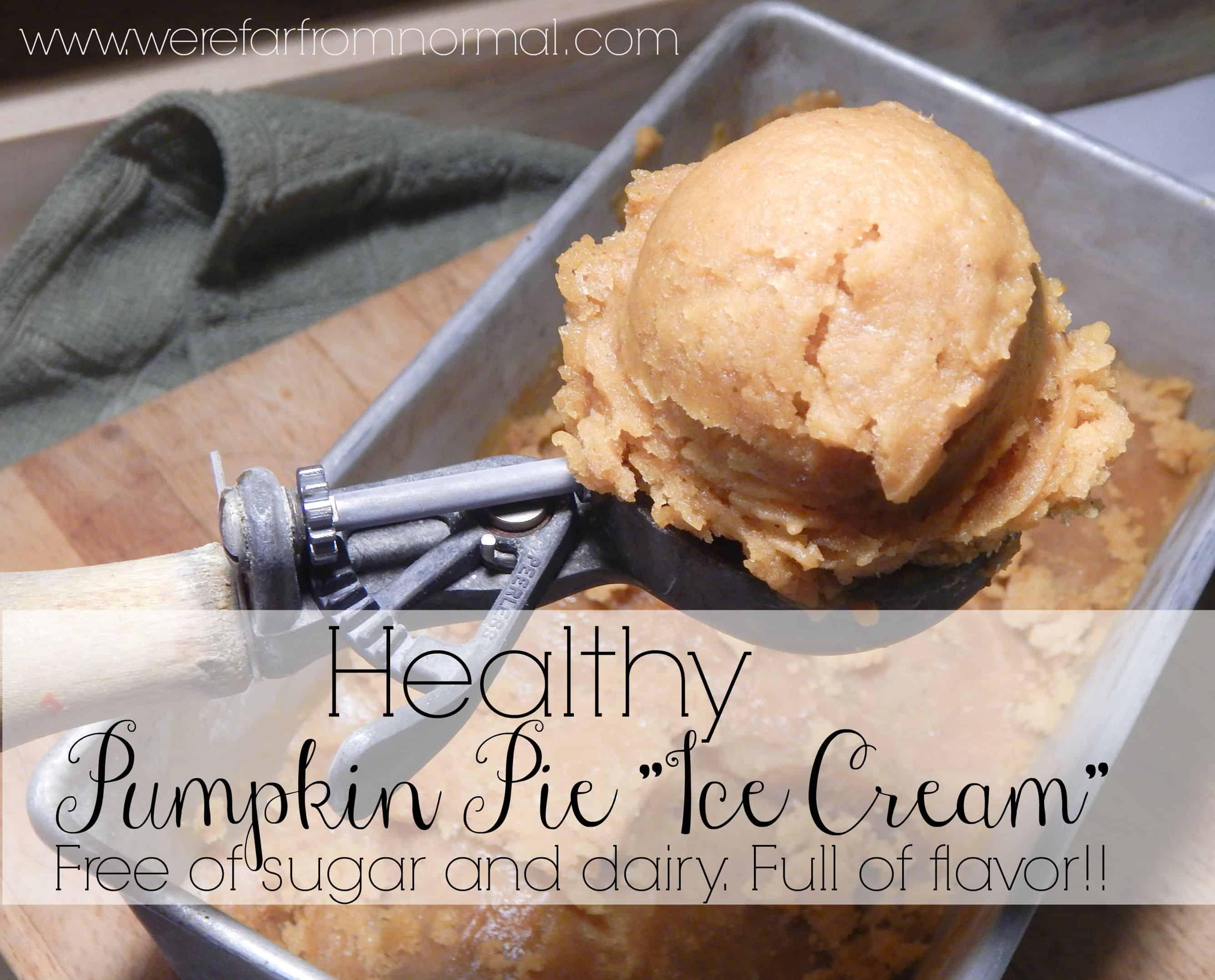 Healthy Pumpkin Ice Cream