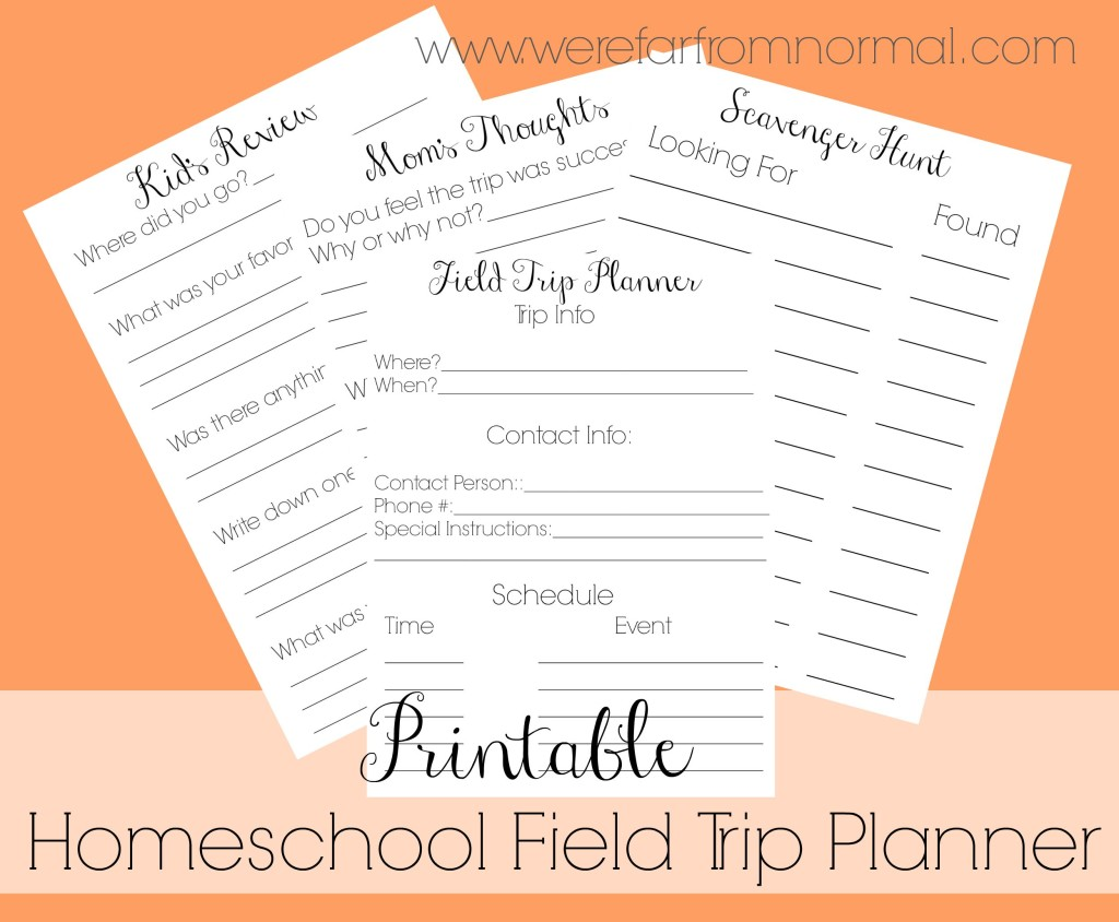 Homeschool Field Trip Planner