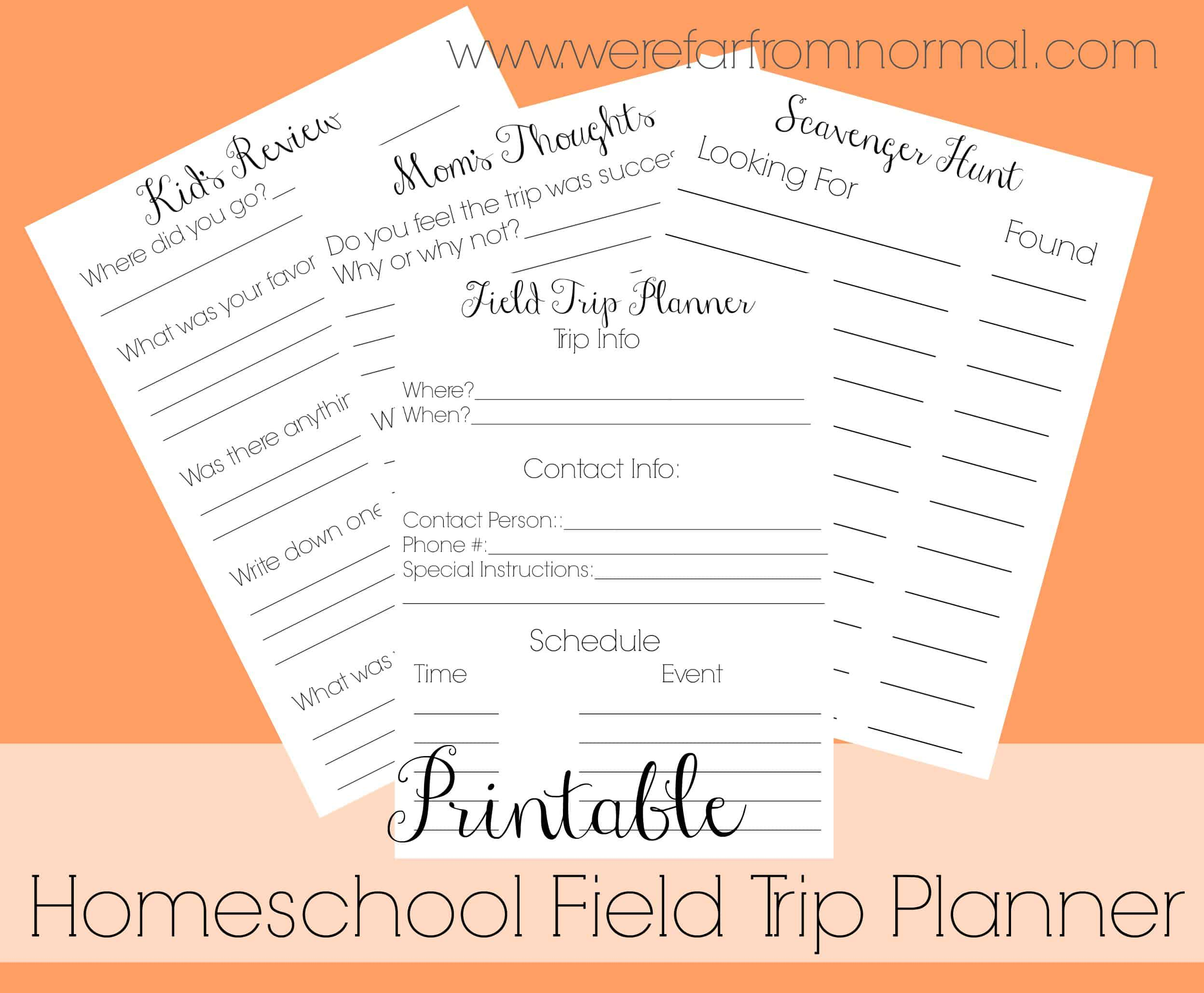 graphic about Travel Planner Printable titled Cost-free Printable Homeschool Industry Holiday vacation Planner Much In opposition to All-natural