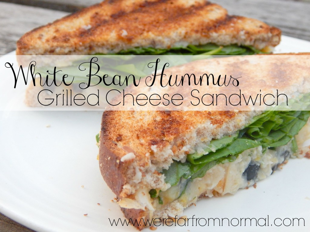 White Bean Hummus Grilled Cheese Sandwich