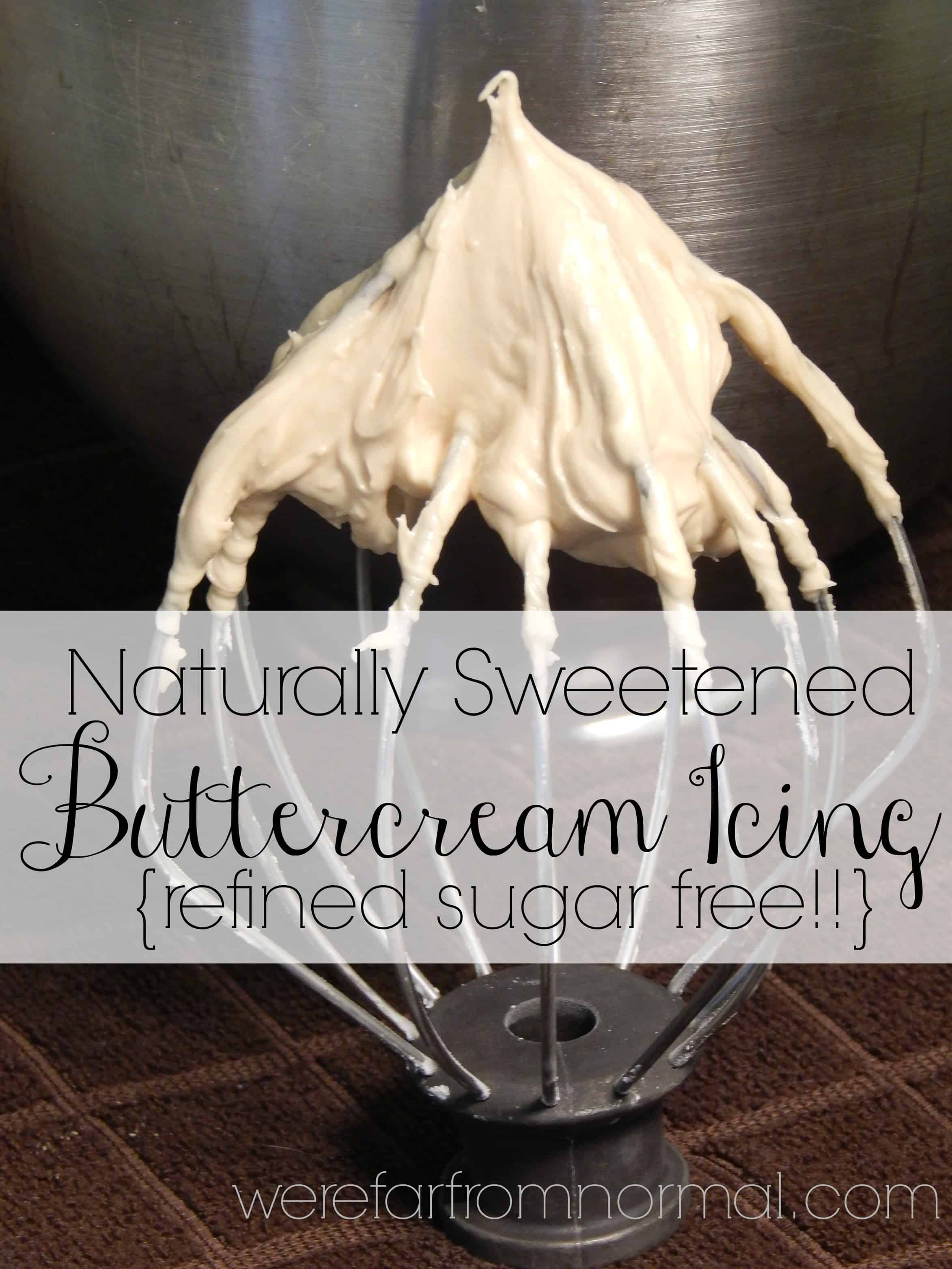 Naturally Sweetened Buttercream Icing {Refined Sugar Free!}