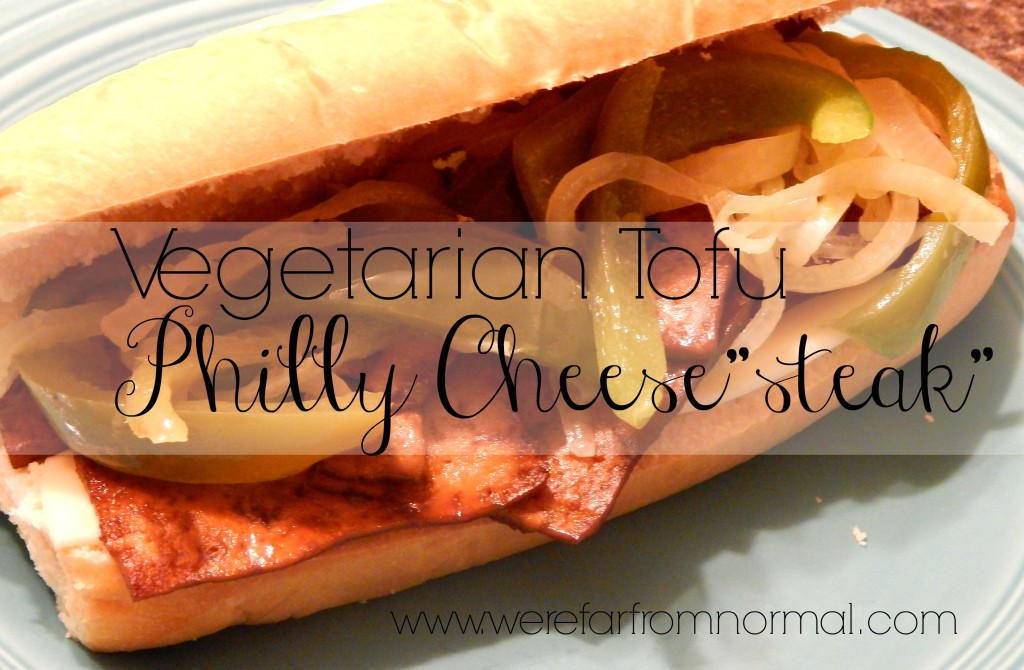 Yum! This is one of the best vegetarian dishes I've had! This is a Philly Cheesesteak even meat eaters will enjoy! Who knew toful could taste this good