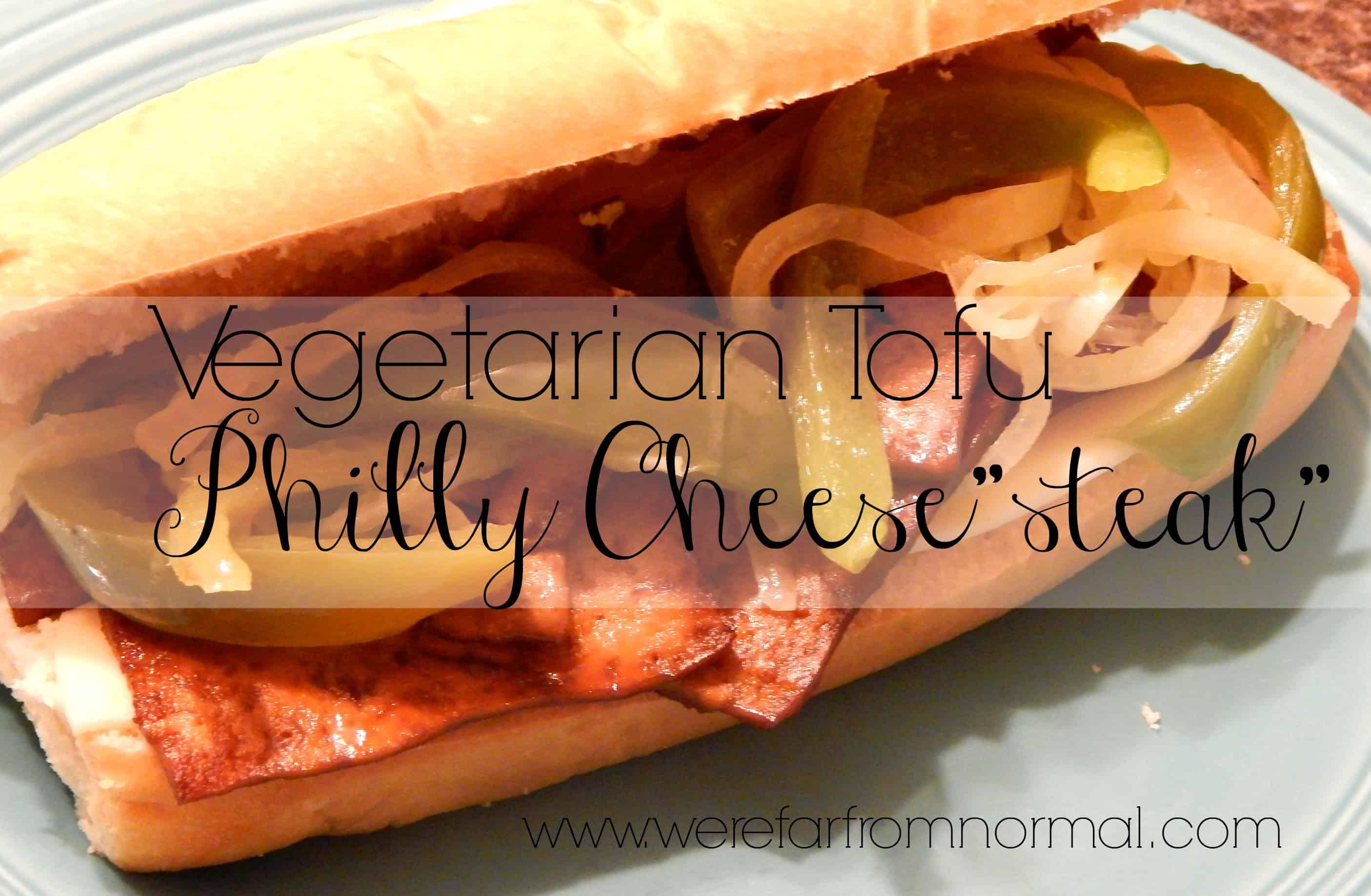 Vegetarian Tofu Philly Cheesesteaks
