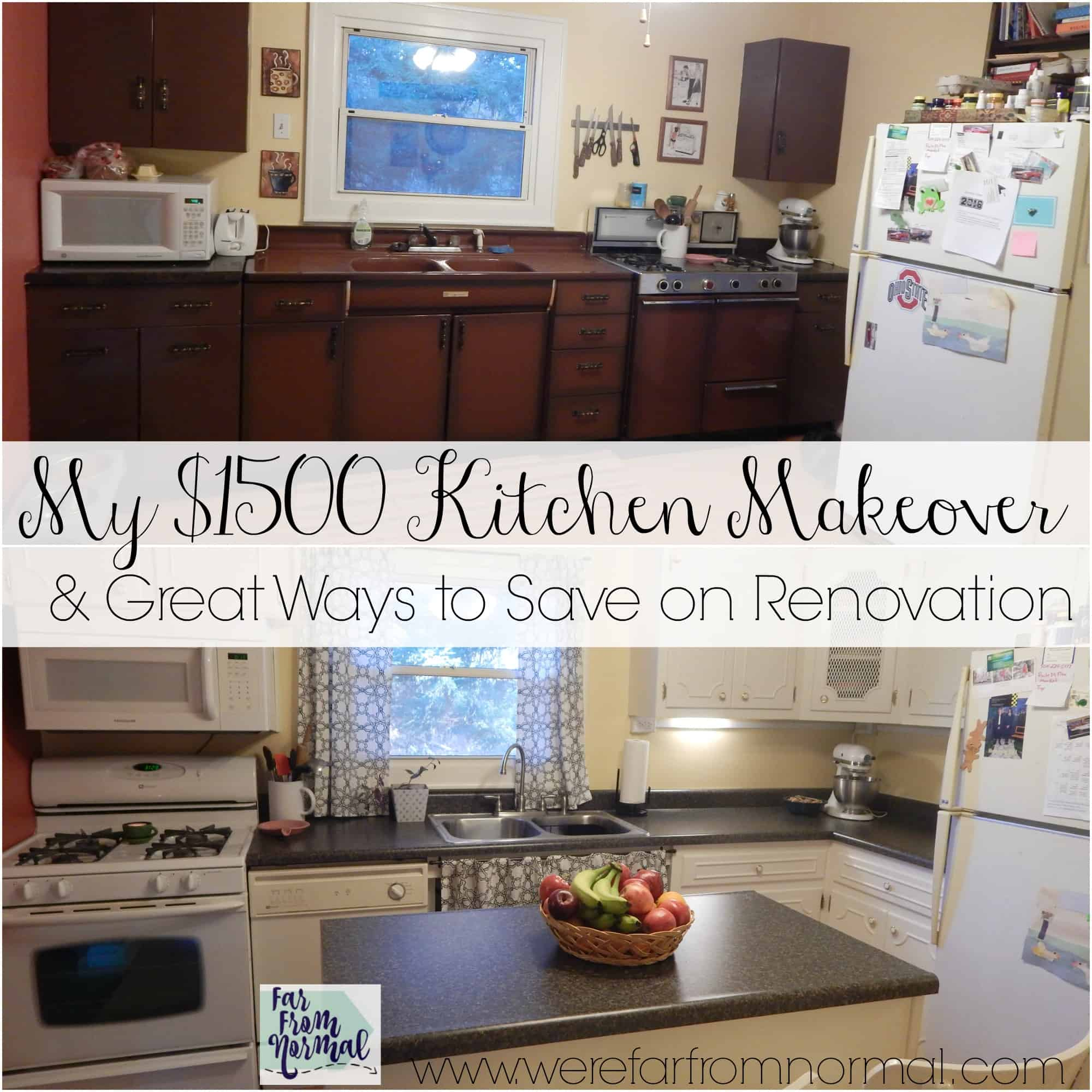 My $1500 Kitchen Makeover {& Great Ways to Save on Renovation}