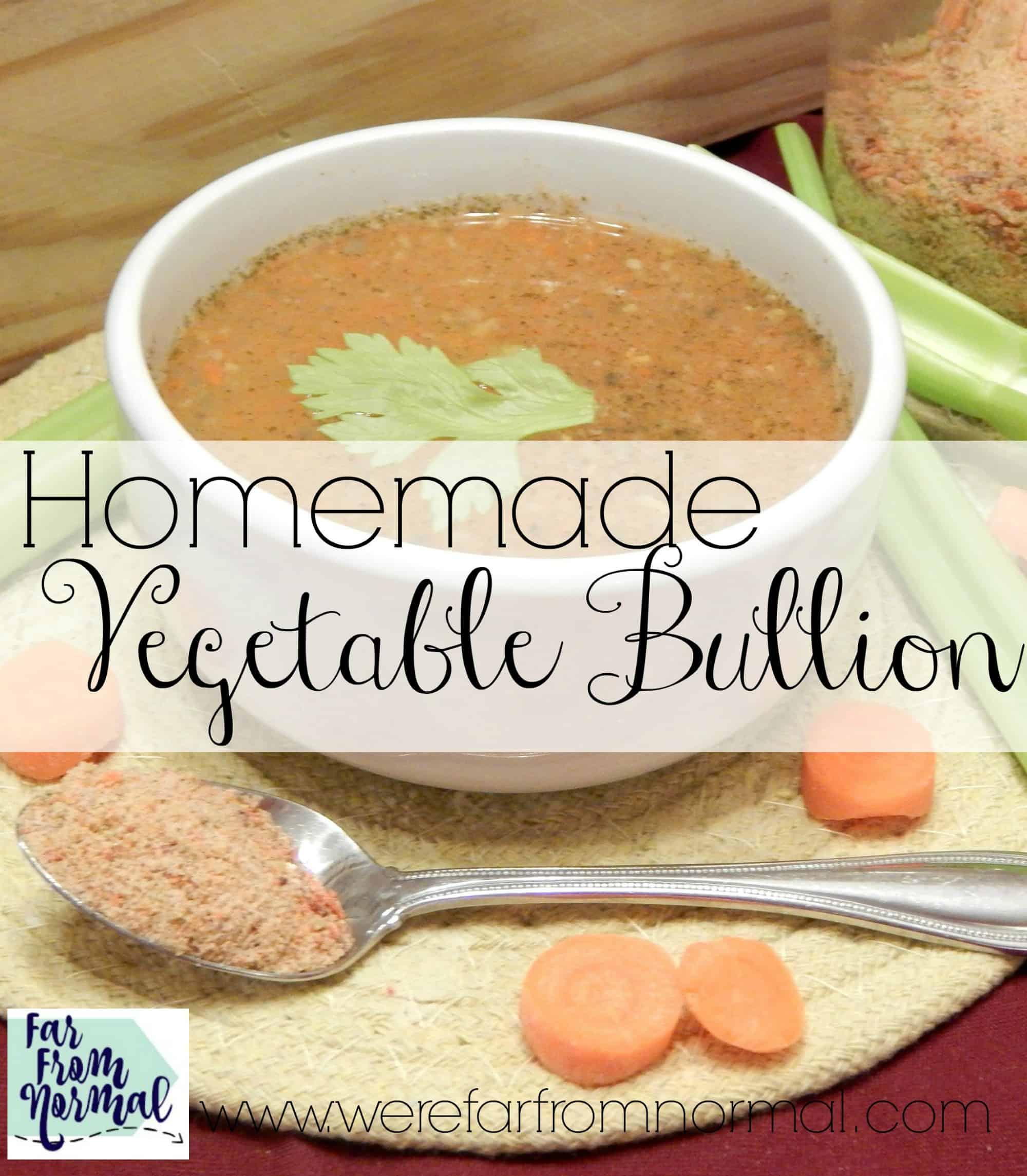 Homemade Vegetable Bullion
