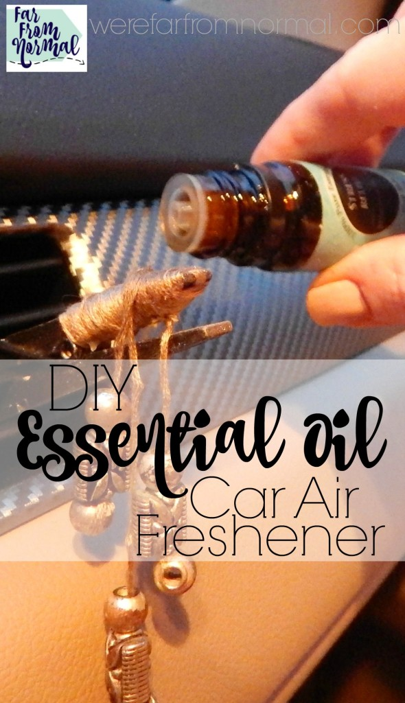 Fragrance your car with your favorite essential oils! This is such an easy project and you can personalize it to match your car! Make your car smell wonderful!