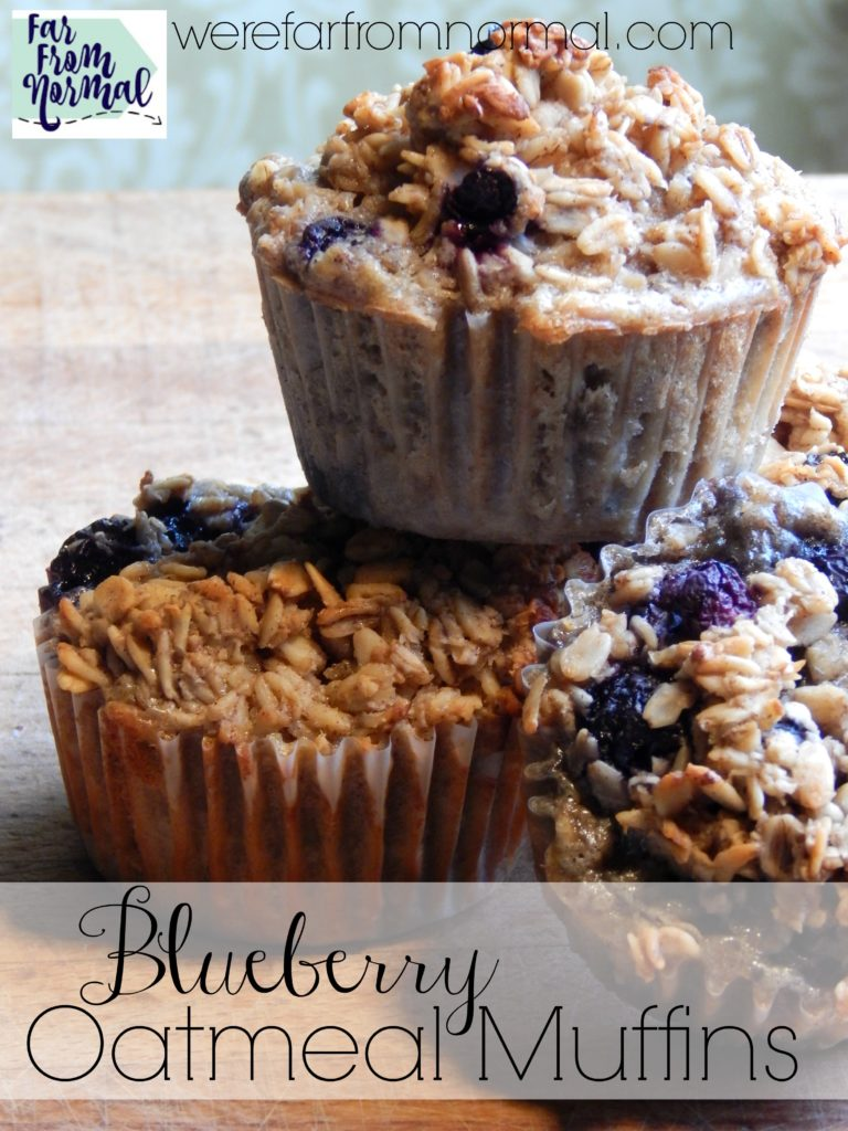 These muffins are the perfect combination of blueberries and baked oatmeal. They are nice and hearty and just sweet enough! Perfect for a grab & go breakfast.