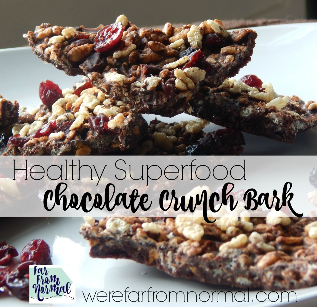 This superfood chocolate bark is so addicting! It satisfies even the worst chocolate craving GUILT FREE!! Full of healthy superfoods, sugar free and so so delicious!