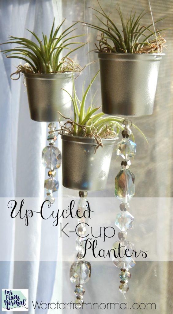 Don't throw those k-cups away! Up-cycle them in to these adorable little k-cup planters!