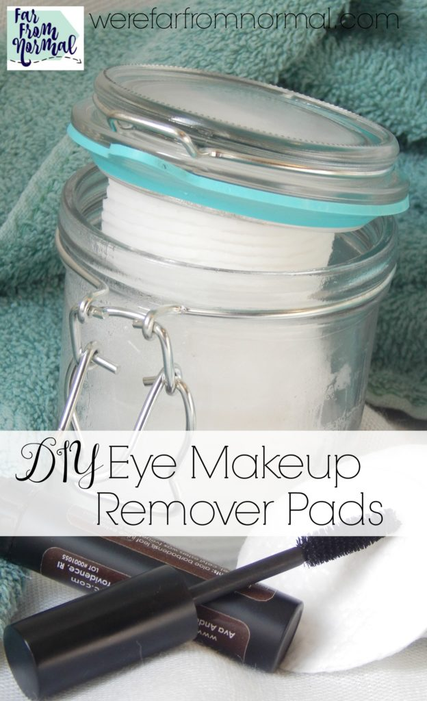 Looking for a simple natural eye makeup remover? Look no furthur! These DIY eye makeup remover pads are so simple, great for your skin and work great!