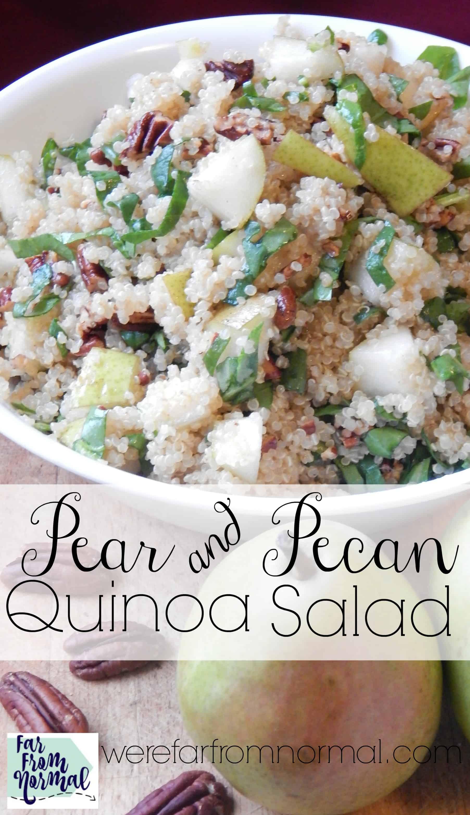 Pear And Pecan Quinoa Salad