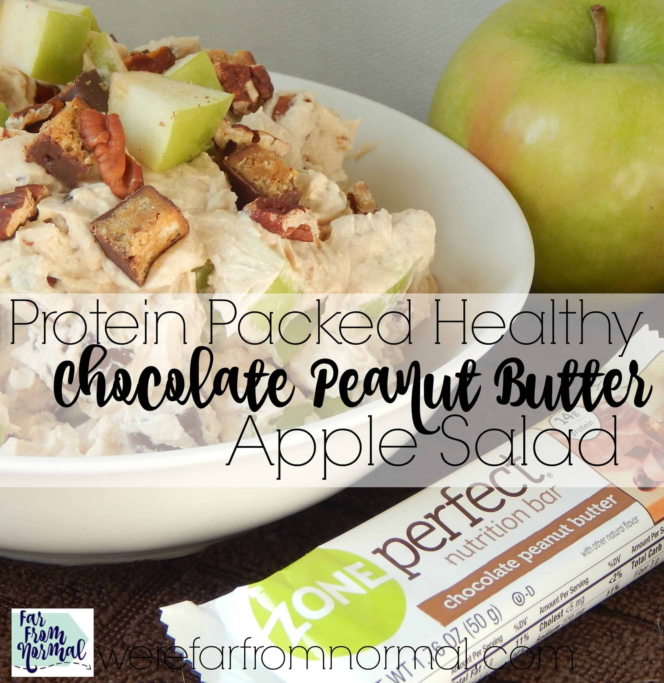 Protein Packed  Healthy Chocolate & Peanut Butter Apple Salad (the perfect afternoon treat!)