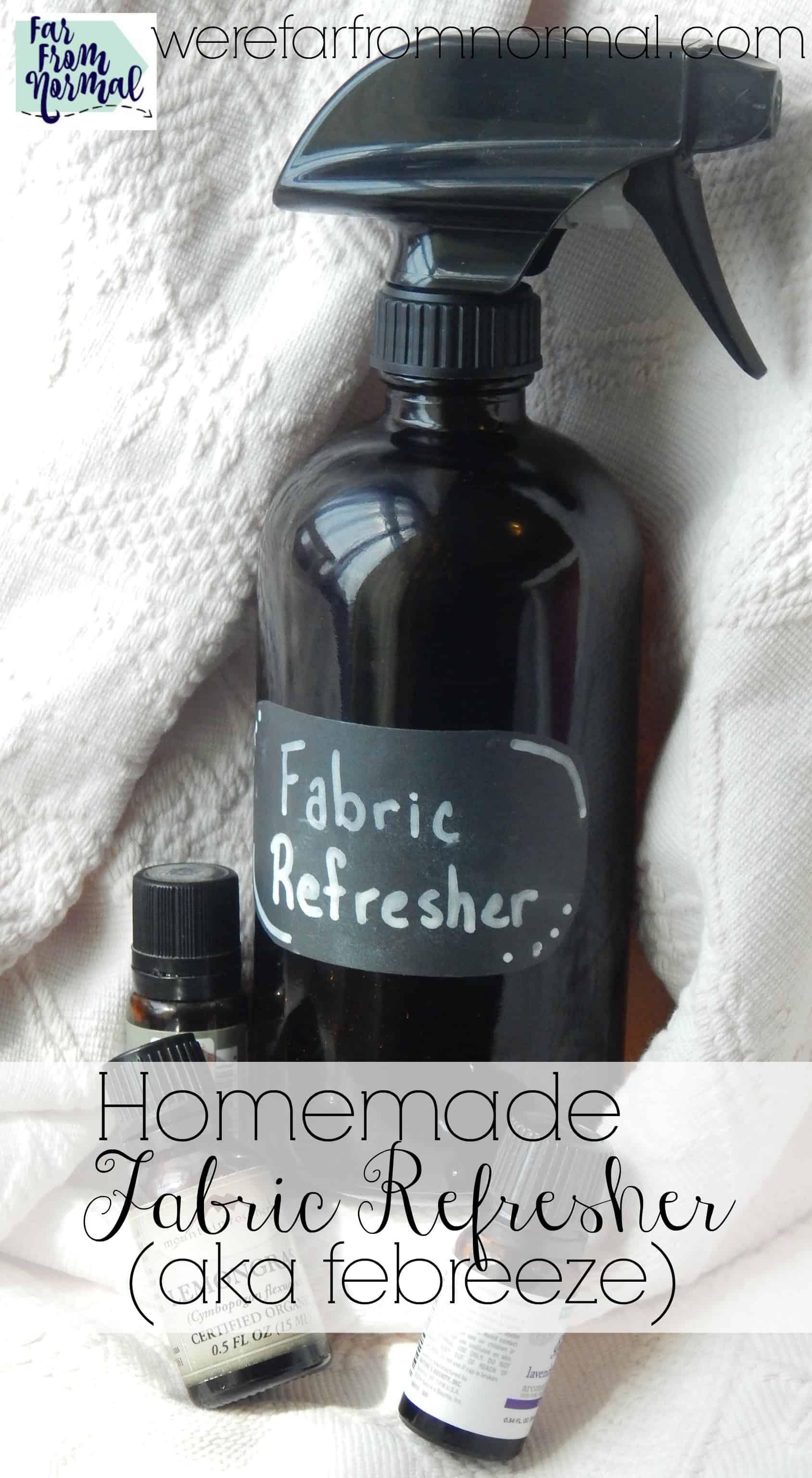 Homemade Fabric Refresher (aka Febreeze)