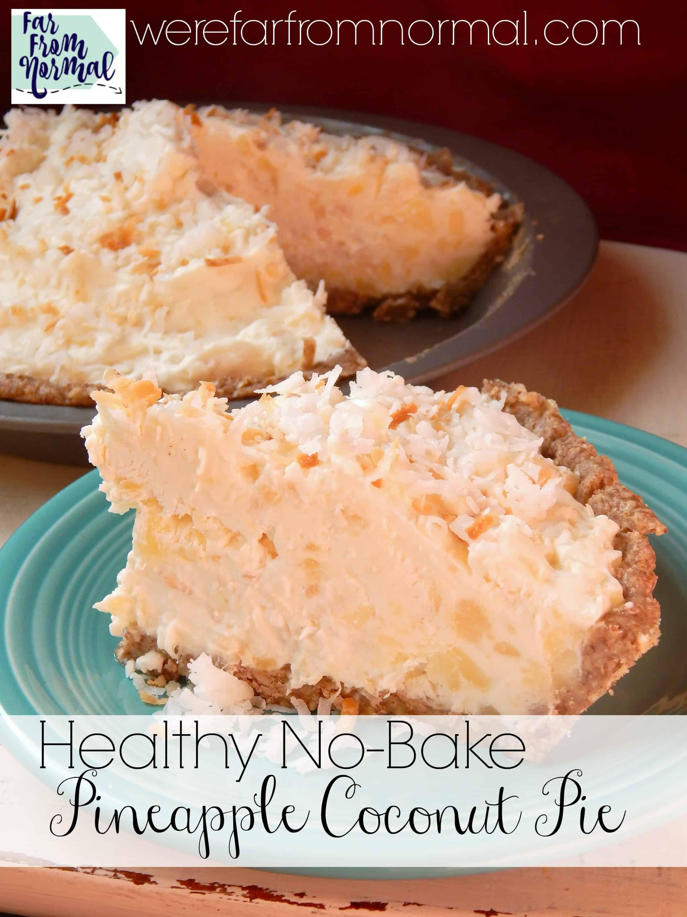 Healthy No-Bake Pineapple Coconut Pie