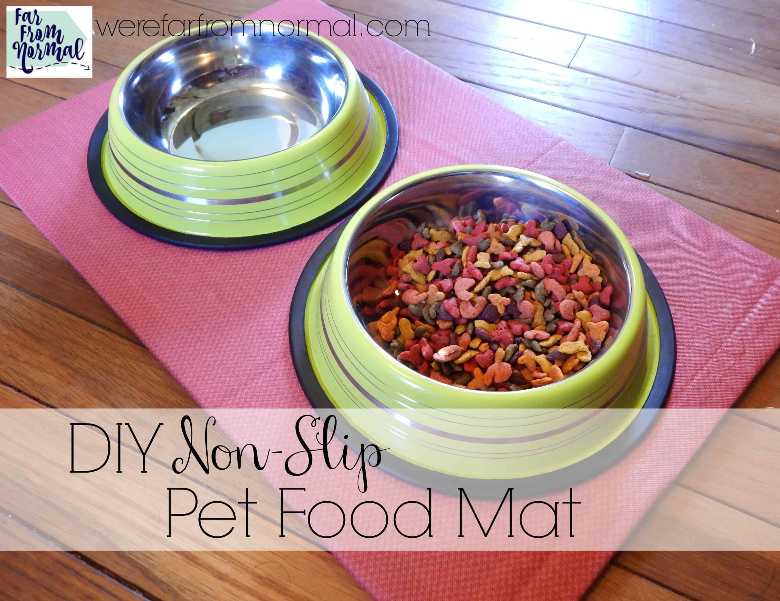 DIY Non-Slip Pet Food Mat