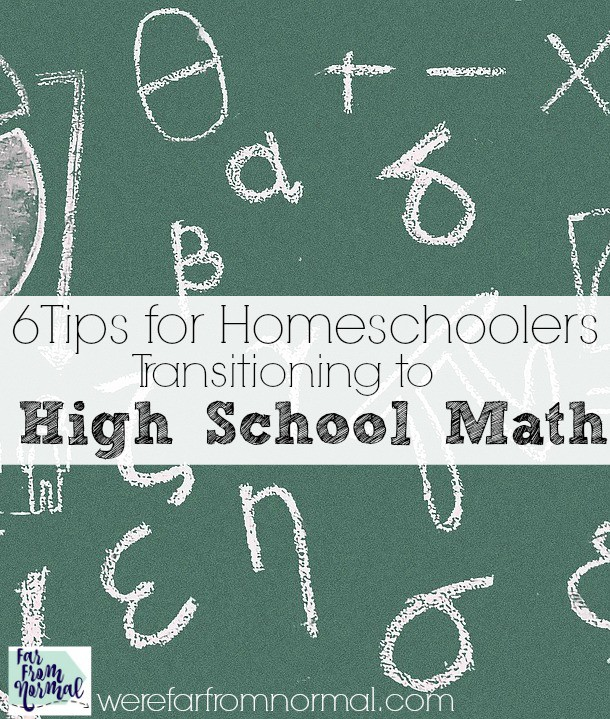 Making the jump from middle school to high school math doesn't have to be scary! These simple ideas will help you and your homeschool student make the transition beautifully!