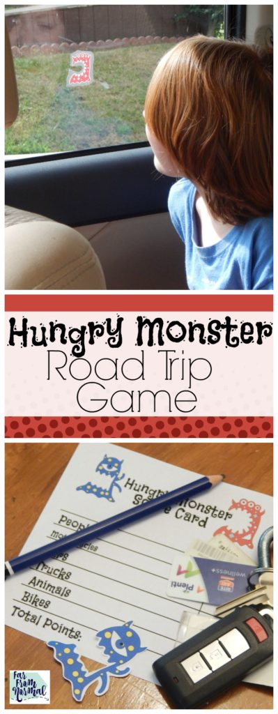 What a super fun way to keep busy on a road trip! SO simple and so fun! Just look out the window and move your head to eat things and get points!