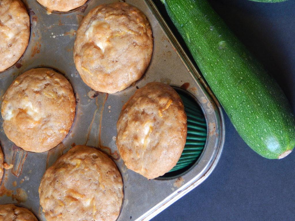 cream cheese filled zucchini muffins
