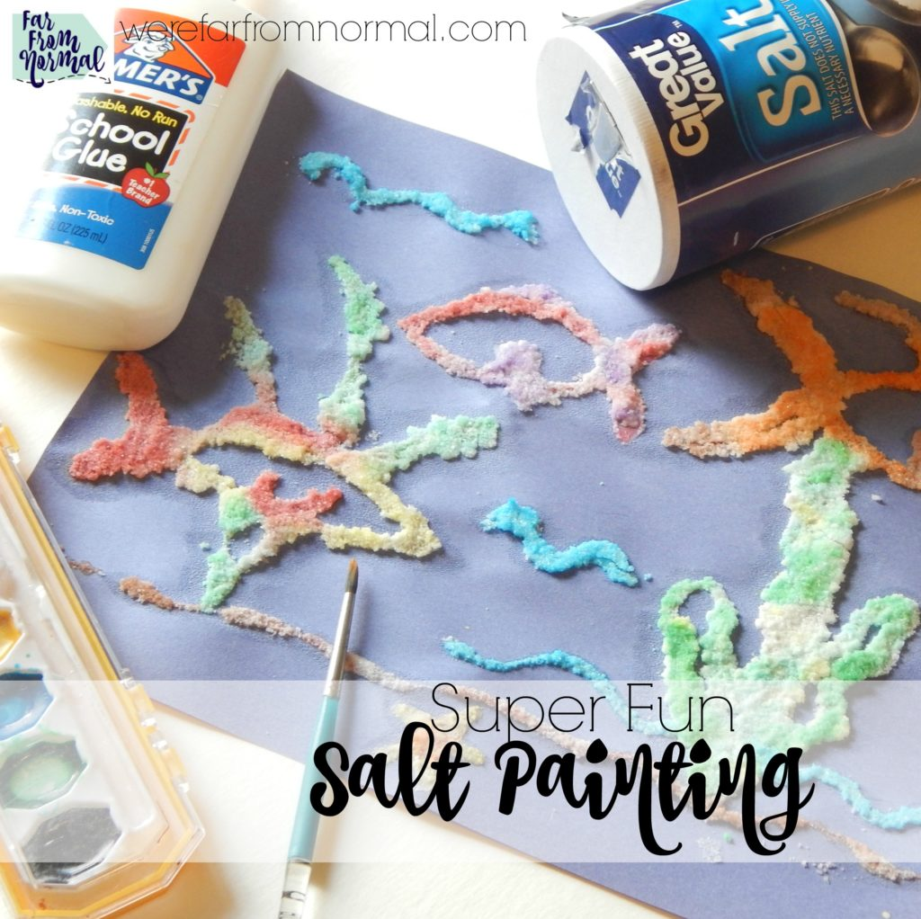Salt painting is such a fun and creative way to paint! Great texture, fun color mixing... get creative!!