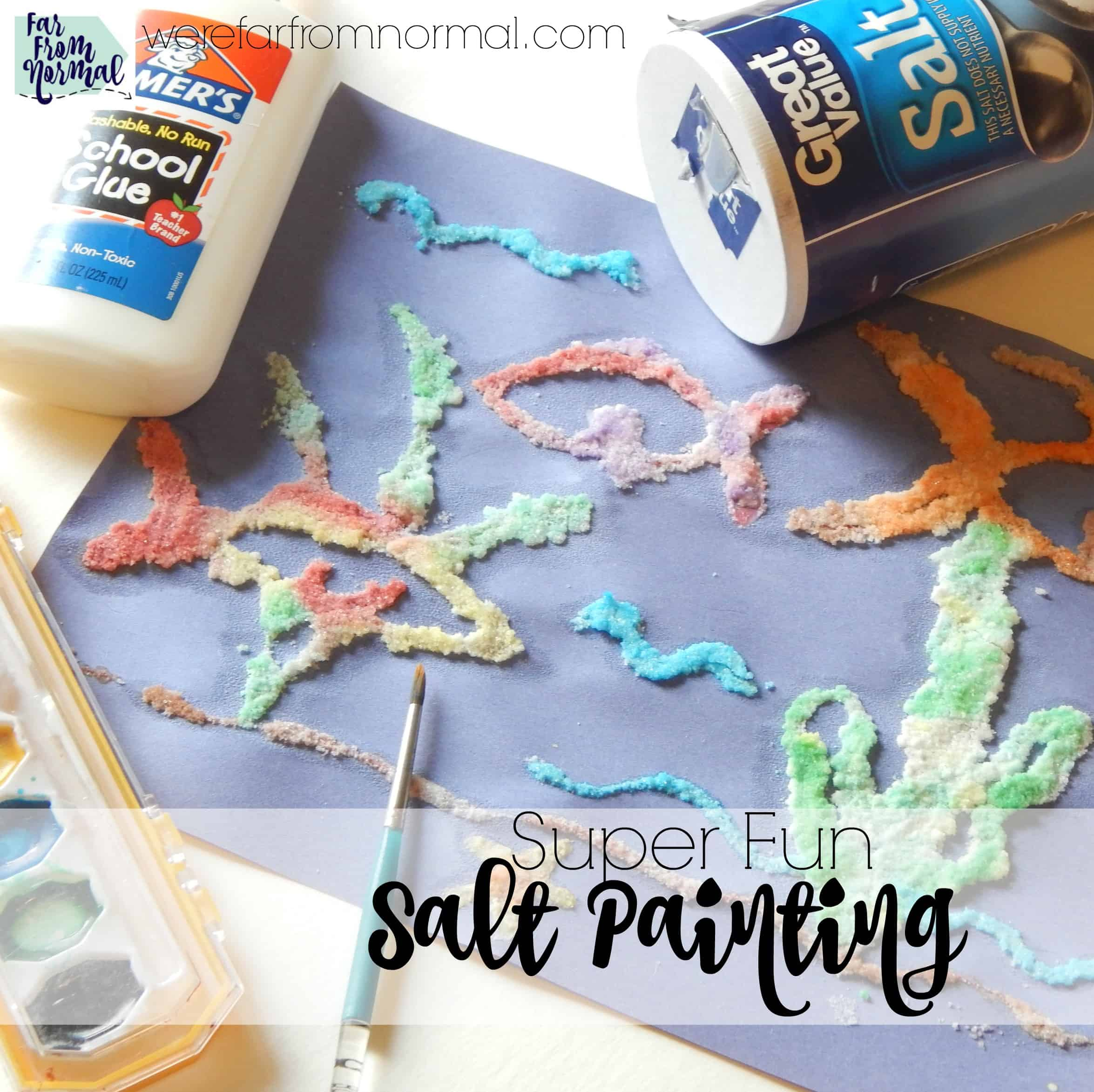 Super Fun Salt Painting (and 200+ painting ideas!!)
