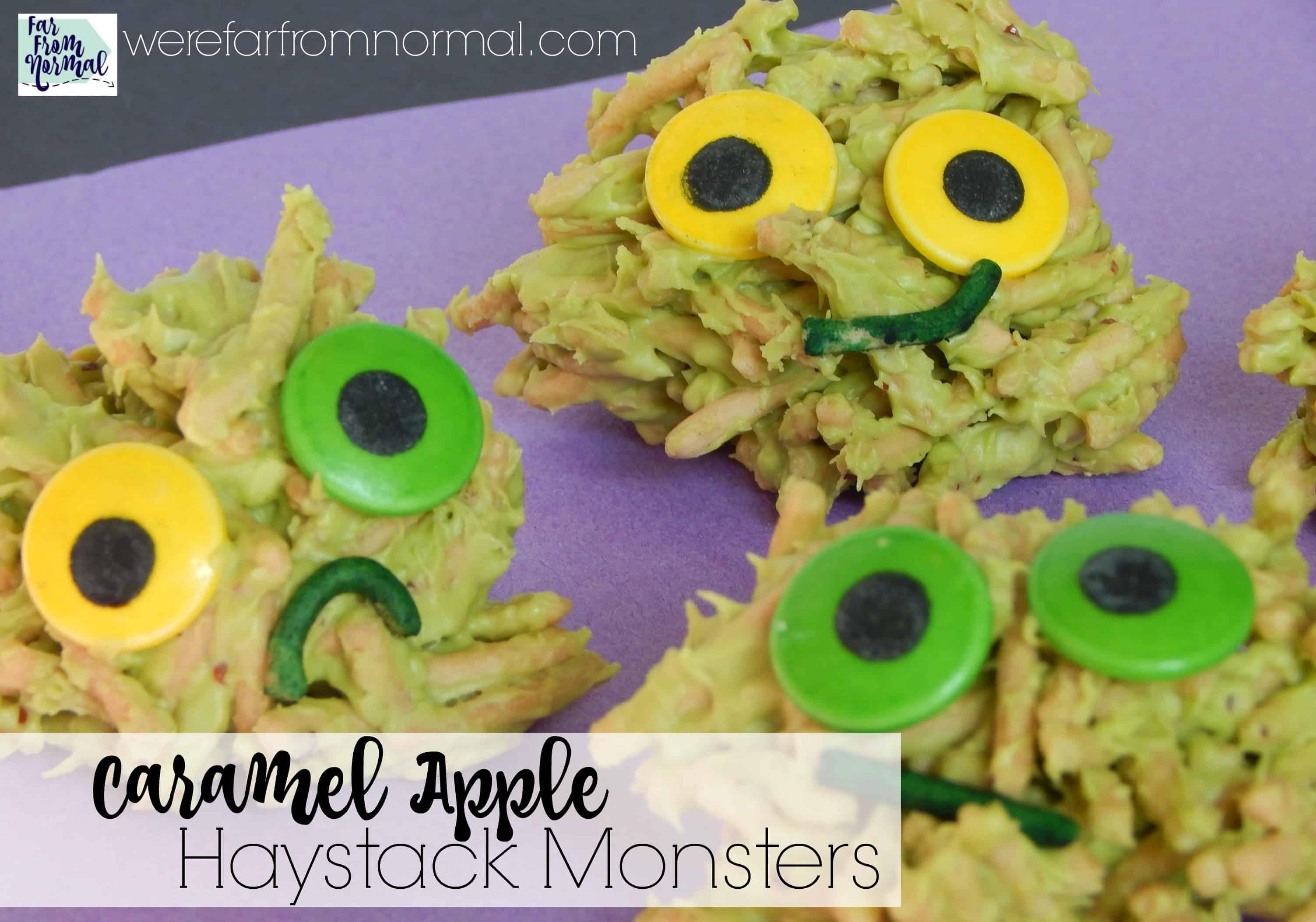 Caramel Apple Haystack Monster Cookies