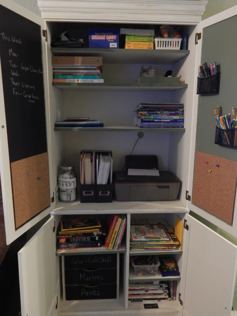 homeschool cabinet
