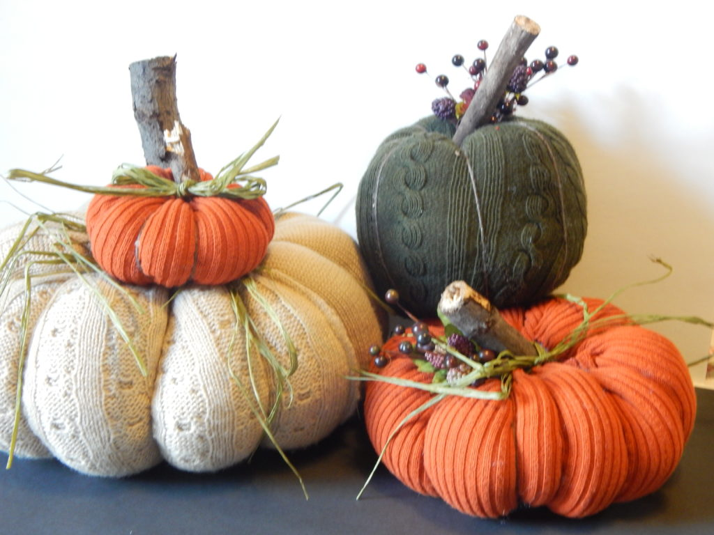 no sew sweater pumpkins