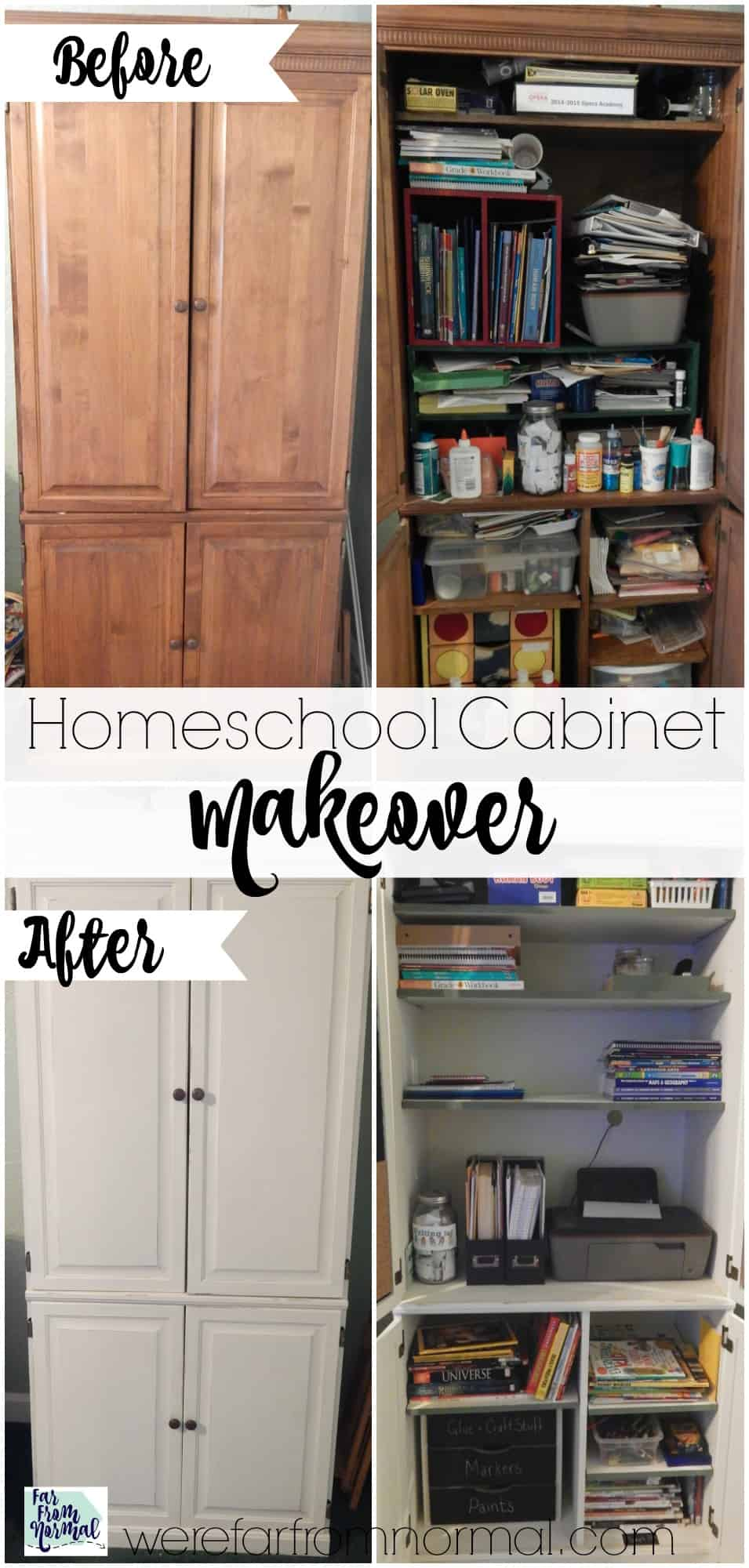 My Homeschool Cabinet Makeover