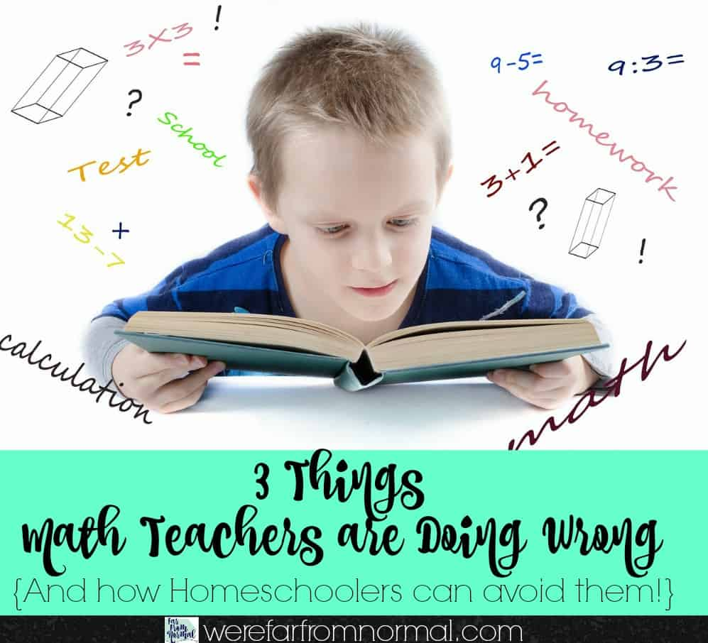 Is math a problem in your homeschool Here's three mistakes you might be making and how you can avoid them!