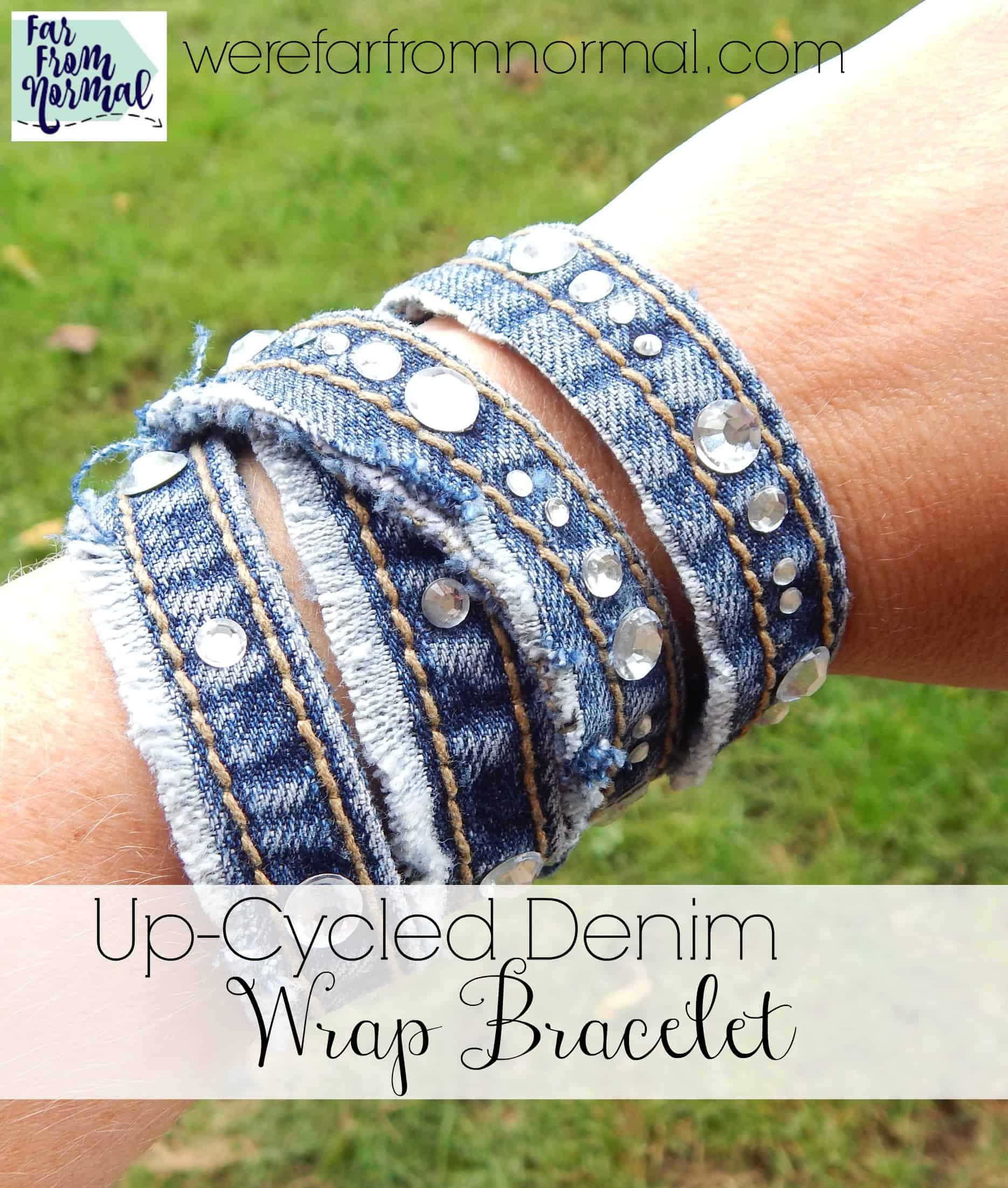 Up-Cycled Denim Wrap Bracelet