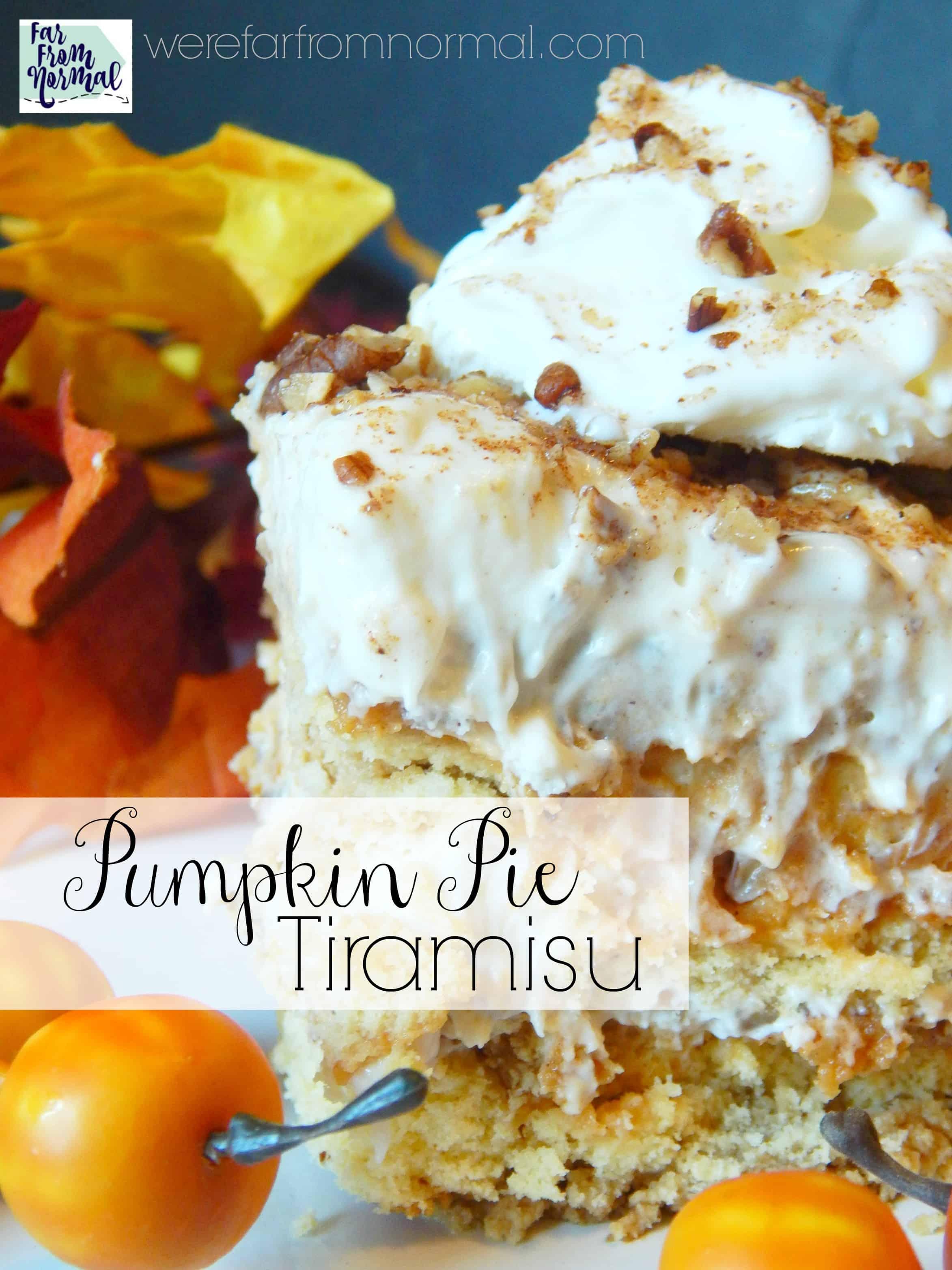 The Most Amazing Pumpkin Pie Tiramisu
