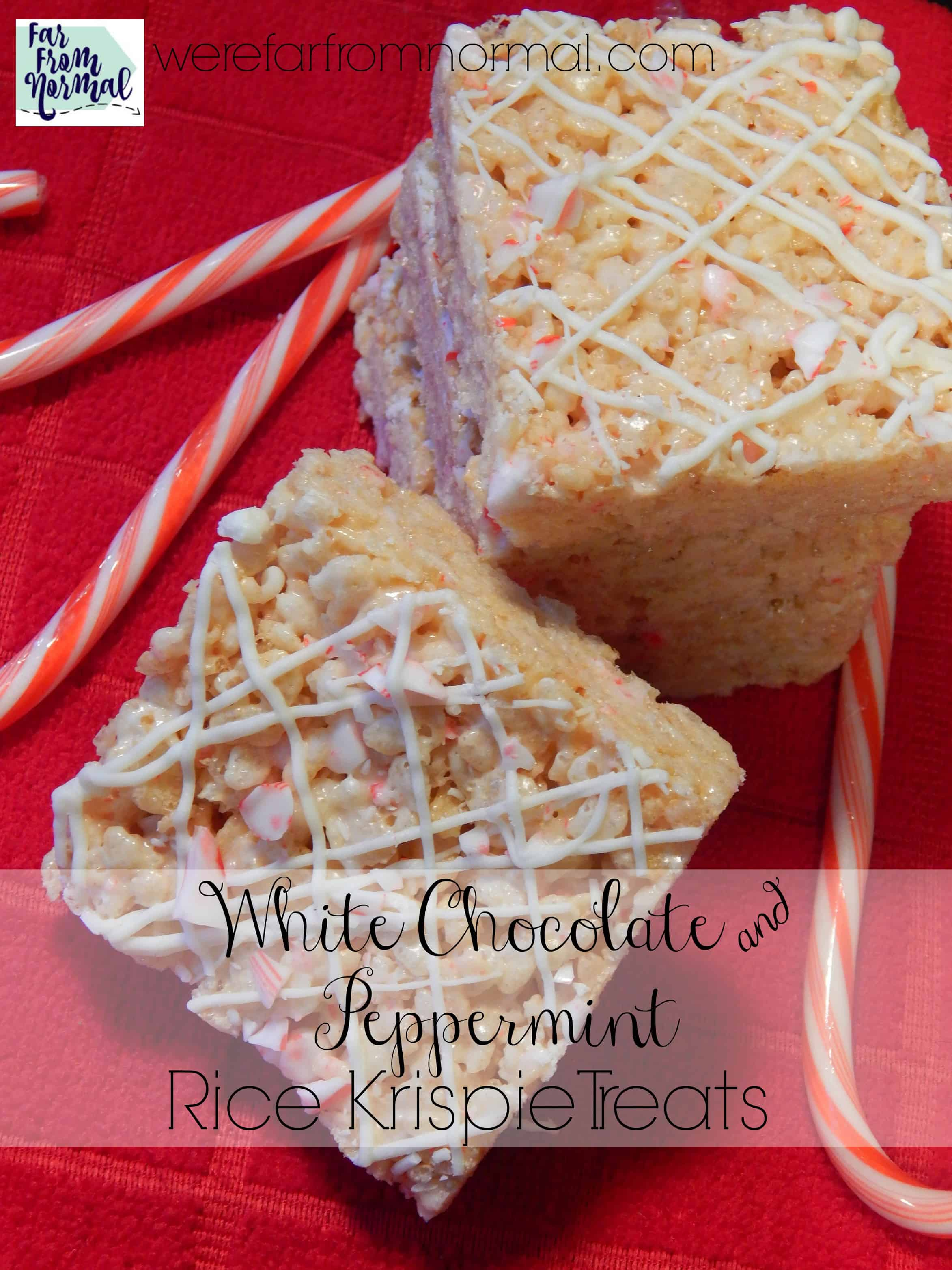 Delicious White Chocolate & Peppermint Rice Krispie Treats