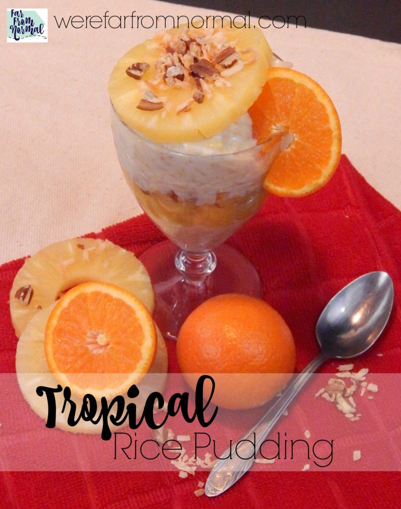 Creamy & Delicious Tropical Rice Pudding