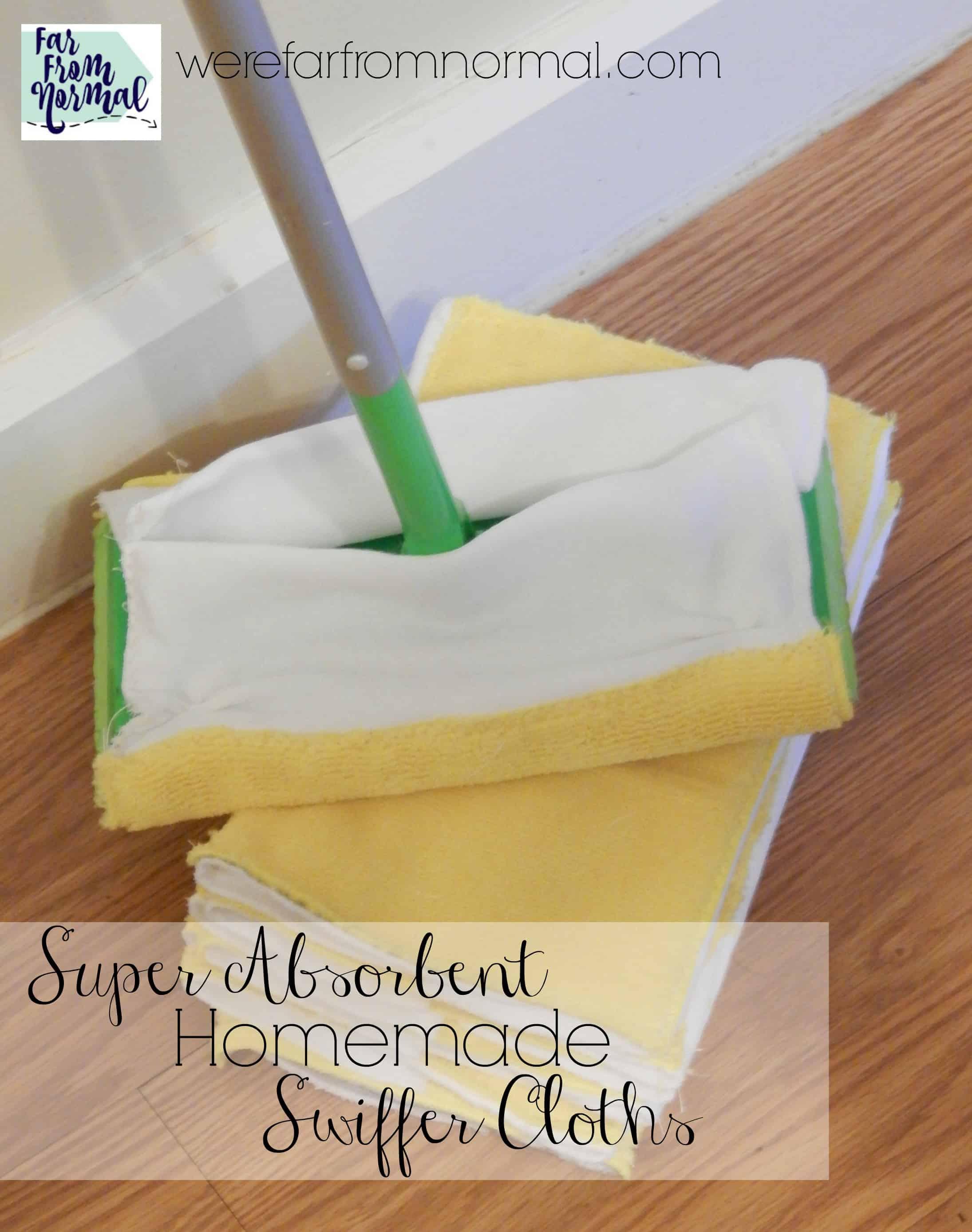 Super Absorbent Homemade Swiffer Cloths