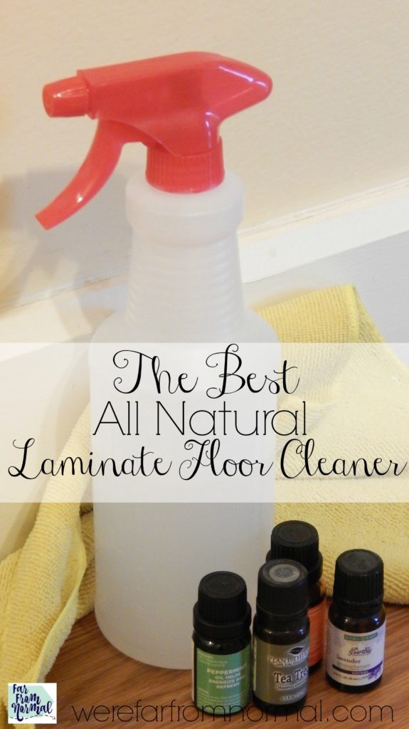 DIY all natural laminate floor cleaner