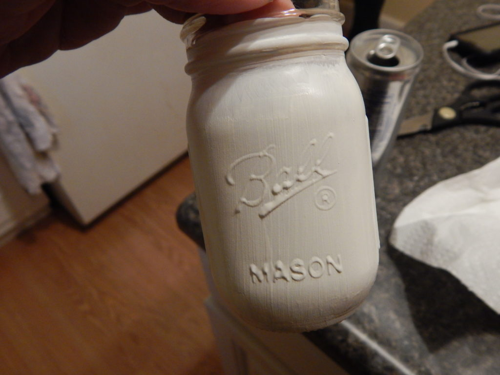 salt and pepper shakers from mason jars