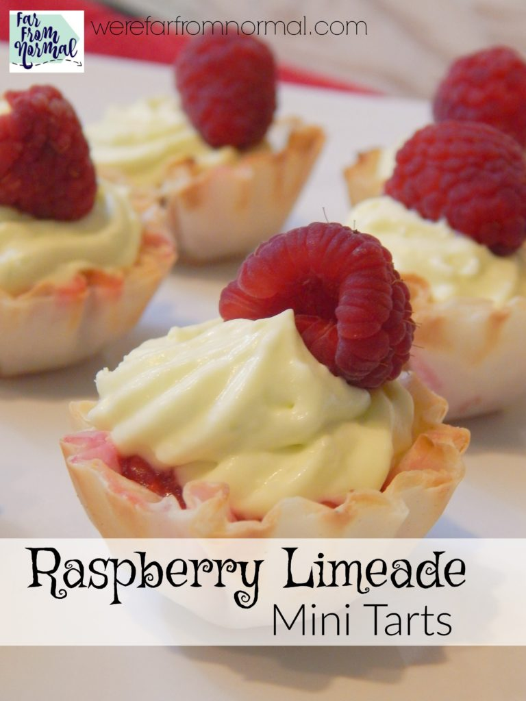 raspberry limeade mini tarts