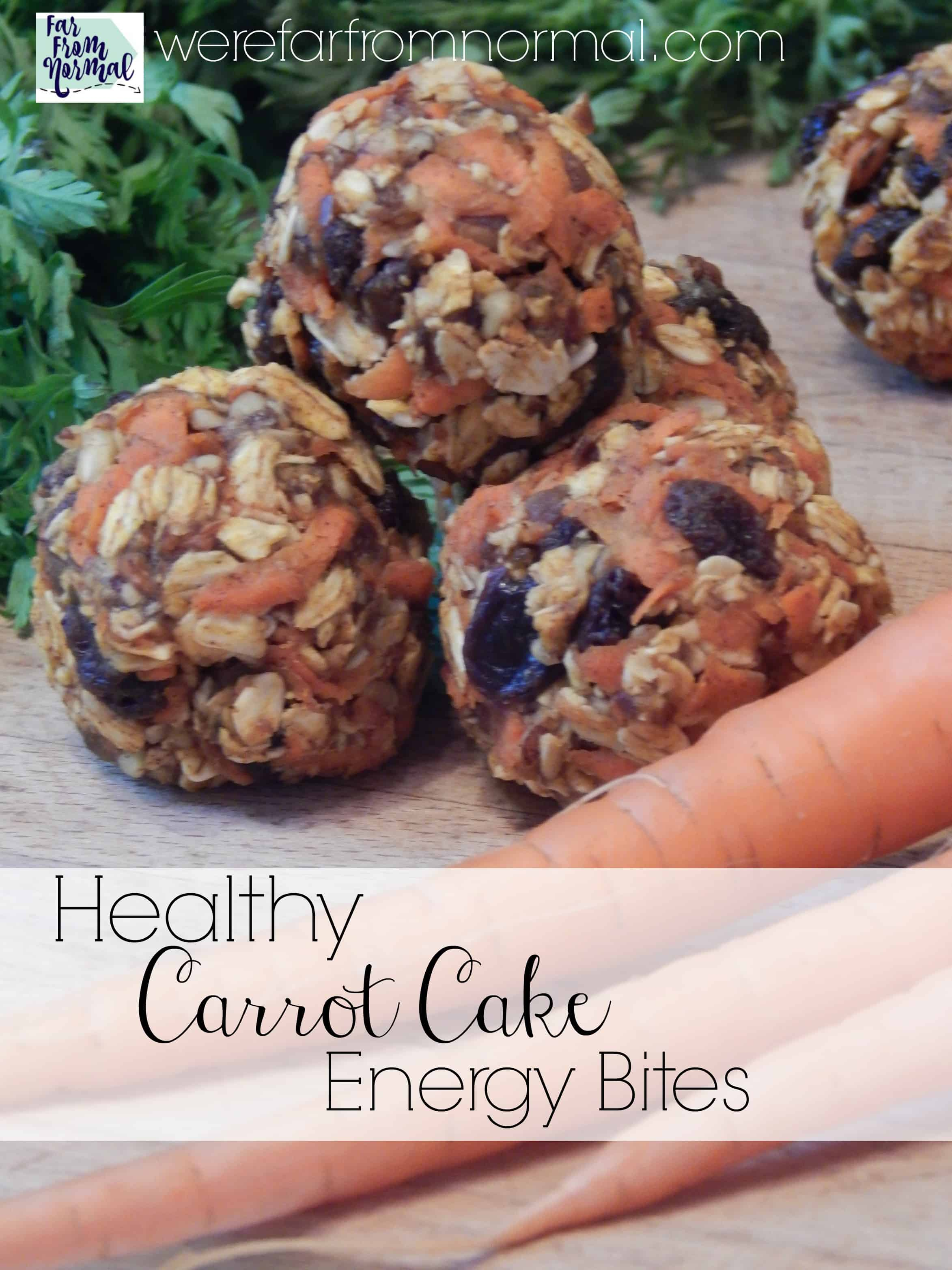 Healthy Carrot Cake Energy Bites
